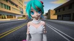 PDFT Hatsune Miku White Dress für GTA San Andreas