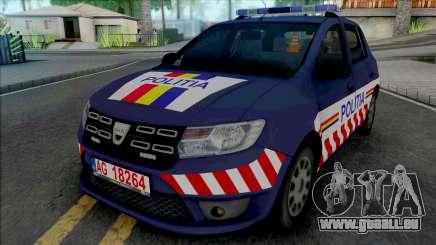 Dacia Sandero 2018 Politia für GTA San Andreas